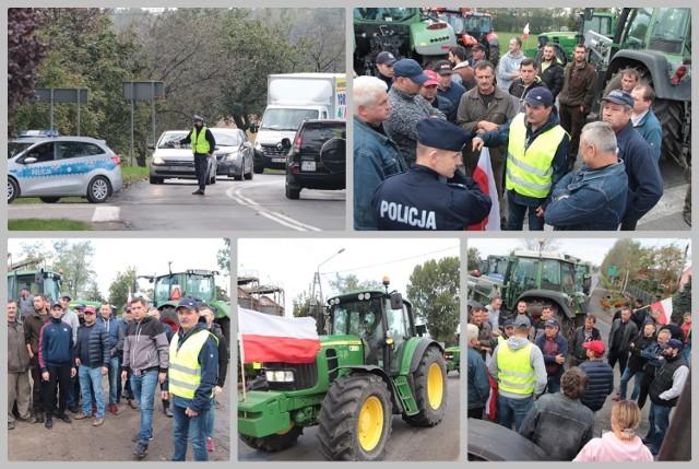 Protest rolników i blokada drogi krajowej 62, Osięciny, powiat Radziejów.
