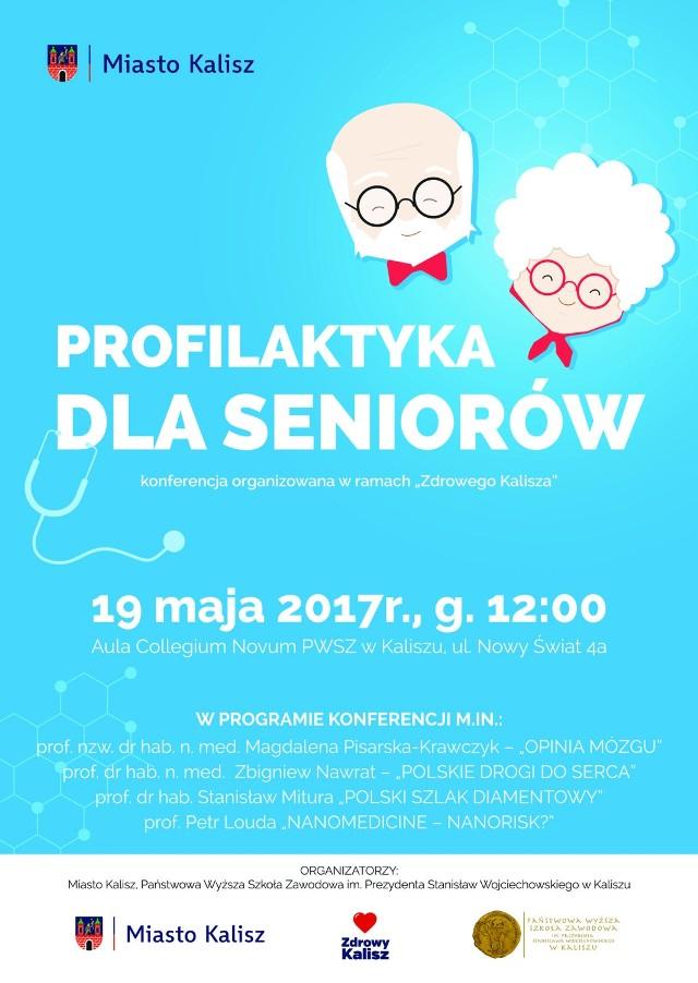 Miasto Kalisz i PWSZ zapraszają seniorów na konferencję o zdrowiu