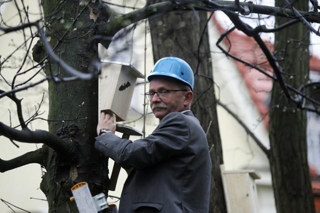 Budki dla ptaków w siedzibie Wojewódzkiego Funduszu Ochrony Środowiska w Legnicy