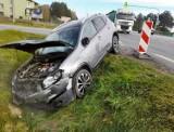 Wypadek na DK 2 koło Białej Podlaskiej. Kierowca jednośladu nie ustąpił pierwszeństwa. Miał blisko 2 promile