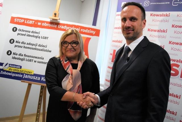 Na poniedziałkowej konferencji Janusz Kowalski i Beata Kempa ostro skrytykowali środowiska osób LGBT.