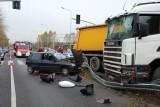 Wypadek na ulicy Chorzowskiej. Co najmniej przez godzinę były objazdy