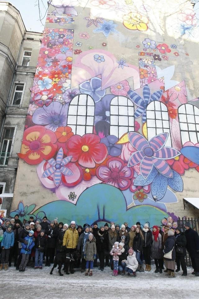 Dziecięcy mural w Łodzi