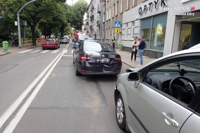 Sprawcą wypadku w centrum Tarnowskich Gór był nietrzeźwy kierowca.