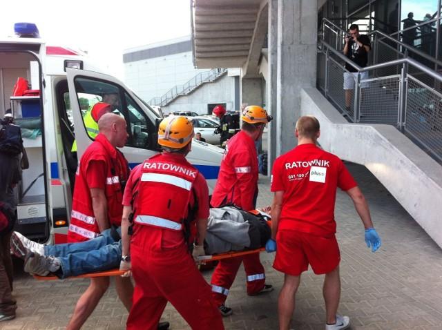 Ogień, ranni i błyskawiczna ewakuacja. Tak dziś było na Ergo ...