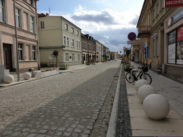 Ulica Piłsudskiego, na której widziano domokrążców.