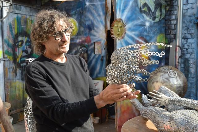 Świebodziński artysta przygotowuje właśnie swoje prace.