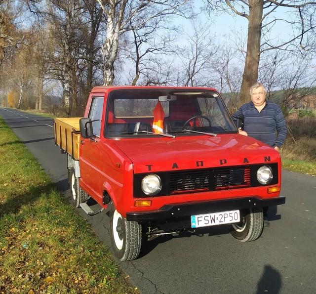 Michał Tyliszczak z Poźrzadła i jego wyremotowane auto