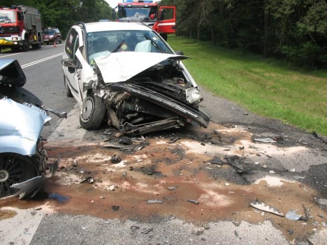 Zderzenie samochodów w Kaliłowie
