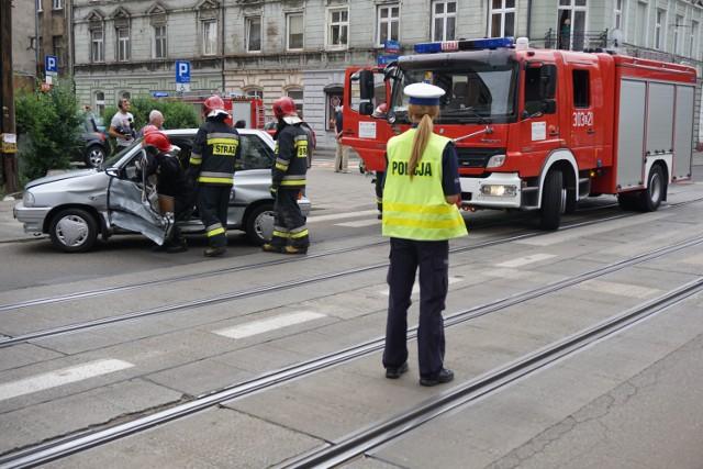 Wypadek na Gdańskiej w Łodzi przy 6. Sierpnia