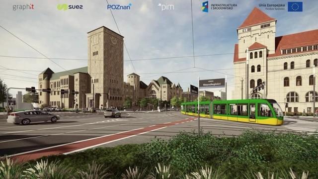 W ramach modernizacji ulicy Święty Marcin - na odcinku od Gwarnej do mostu Uniwersyteckiego - przebudowane zostanie torowisko i powstanie skręt dla tramwajów z Towarowej w Święty Marcin