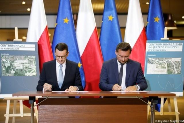 Uroczystość podpisania list intencyjnego w sprawie budowy, wyposażenia i utrzymania centrum nauki w Katowicach