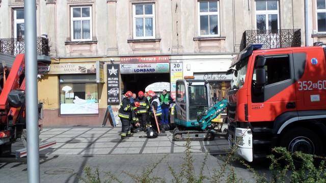 Wyciek gazu w centrum Częstochowy. Aleja NMP zamknięta