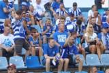 Pełen stadion przy Cichej!  Fani Niebieskich licznie wsparli drużynę. Zobacz ZDJĘCIA kibiców z meczu Ruch Chorzów - GKS Bełchatów