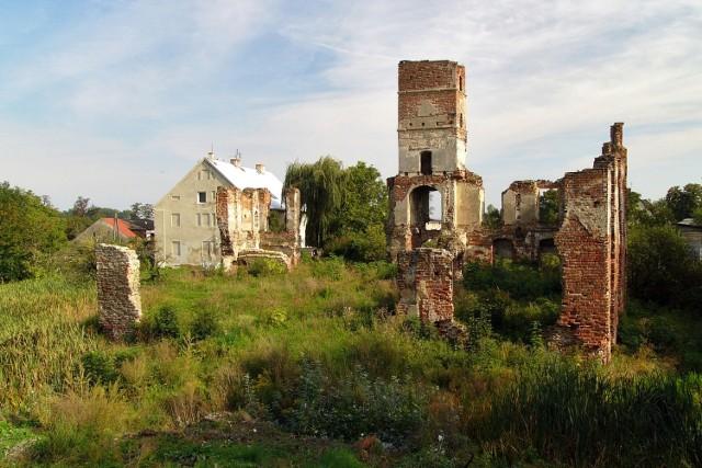Wybudowany w XVI wieku na wyspie w miejscu gotyckiej wieży mieszkalnej z XIV wieku. Renesansowy zamek istniał do XVIII wieku, wówczas dobudowano doń barokowe skrzydło zachodnie, a gdy w XIX wieku powstało skrzydło północne, budowla zyskała neogotycki wygląd.   Po zakończeniu II wojny światowej obiekt uległ zniszczeniu. Ruiny pałacu, nazywanego także zamkiem współcześnie niszczeją. W 2012 zawaliła się jedna ze ścian budowli.  Smolec położony jest w gminie Kąty Wrocławskie, w bezpośredniej bliskości Wrocławia.