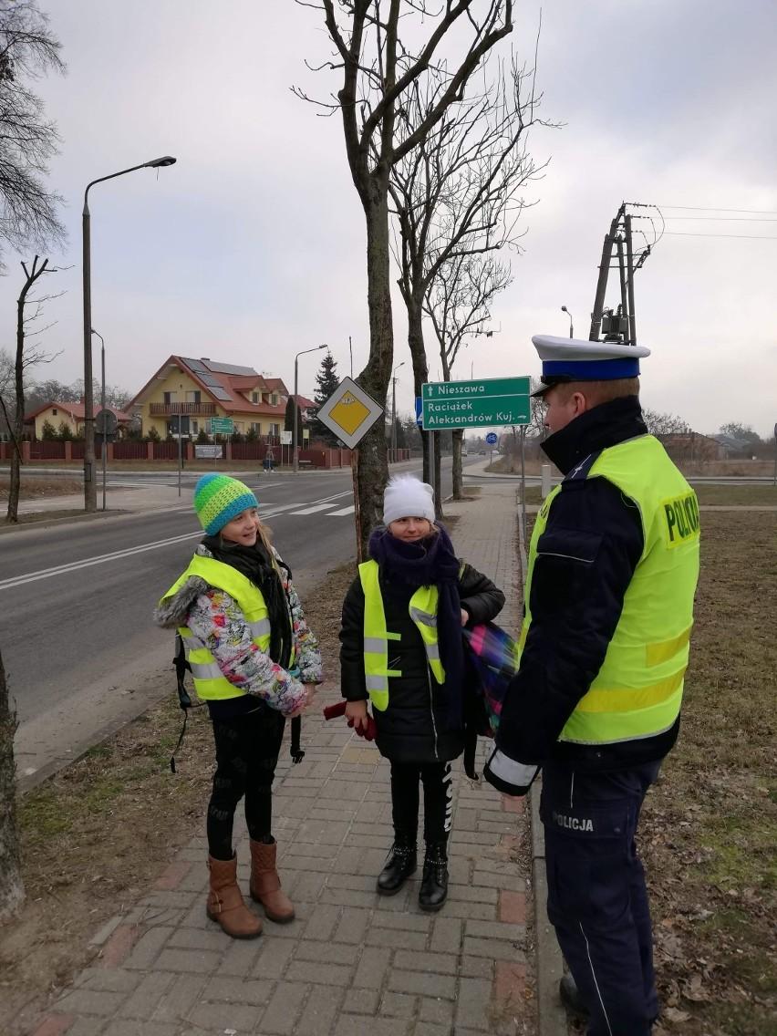 Akcja Bezpieczny pieszy w powiecie aleksandrowskim [zdjęcia]