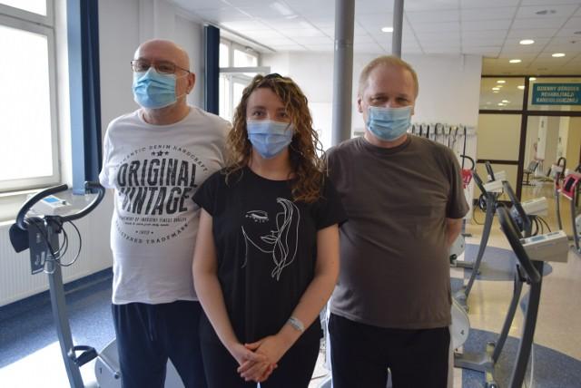 Piotr Palki, Barbara Kasperek i Janusz Sobik - to pierwsi pacjenci na oddziale. - Tutaj pomagają nam stanąć na nogi - słyszymy.  Zobaczkolejnezdjęcia. Przesuwajzdjęcia w prawo - naciśnij strzałkę lub przycisk NASTĘPNE