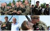 Żołnierze WOT z Dolnego Śląska złożyli przysięgę na bulwarze w Głogowie. Na uroczystości pojawili się też protestujący. Zdjęcia