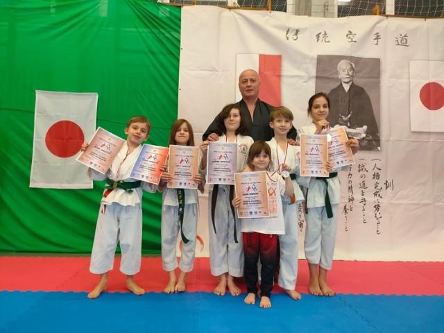 Karatecy KK NIDAN Zielona Góra rywalizowali online z klubem z Izraela.