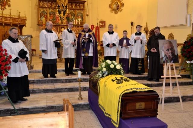 Pogrzeb prof. Jerzego Tredera w kościele św. Leona w Wejherowie