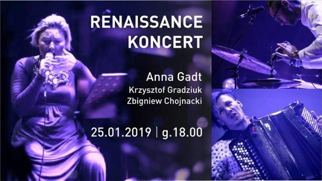"""Zapraszamy na koncert utworów z płyty """"Renaissance"""" w Galerii CKiS Wieża Ciśnień"""