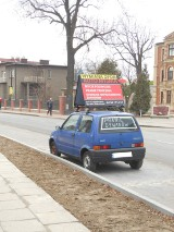 Parkingi Żory: Auto z reklamą może tu parkować...