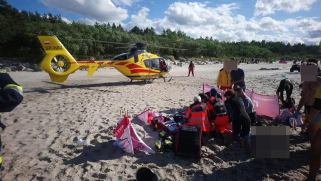 Tragedia na plaży w Ustroniu Morskim