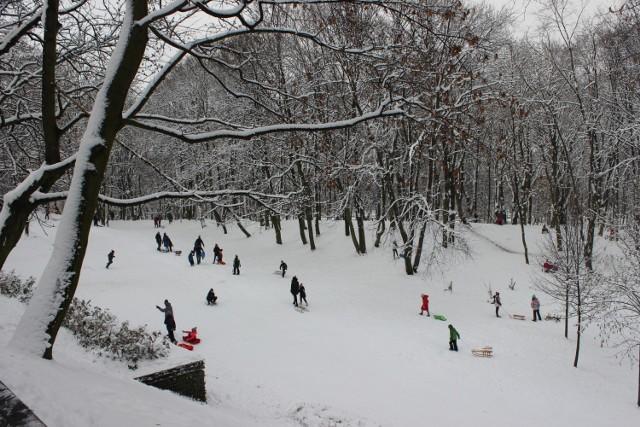 Park Kachla w Bytomiu zimą. Zobacz kolejne zdjęcia >>>