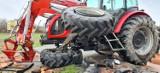 Zderzenie auta ciężarowego z ciągnikiem rolniczym pod Kłobuckiem