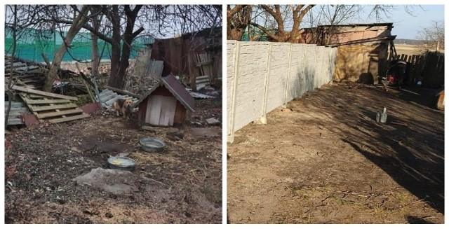 Rodzina z Kochcic będzie miała nowe ogrodzenie. Poprzednie było w katastrofalnym stanie. Tak było, a tak jest.