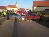 Wypadek dwóch samochodów w Baszkowie [ZDJĘCIA]