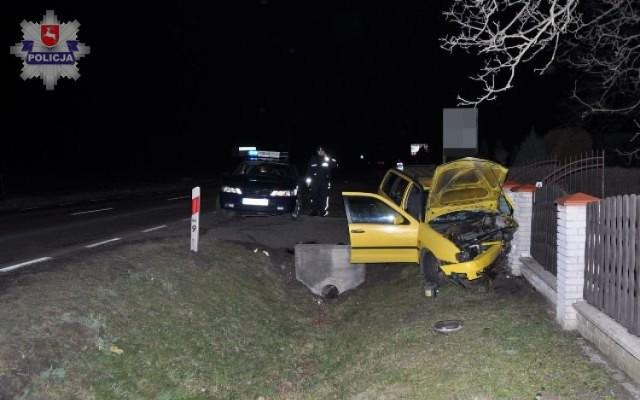 Wypadek w Tarnogrodzie: kierowca zasłabł za kierownicą