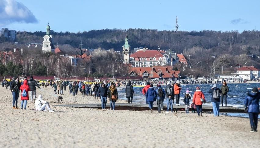 Spacer po plaży w Sopocie 27.02.2021