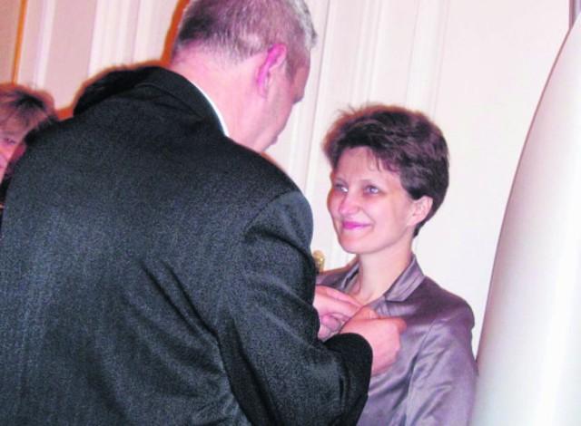 Medalem uhonorowano z Annę Ulanowską-Węglarz ze SP w Łapanowie