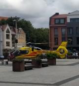 W Lęborku auto potrąciło 62-letnią kobietę. Śmigłowiec LPR przetransportował ją do szpitala w Gdańsku