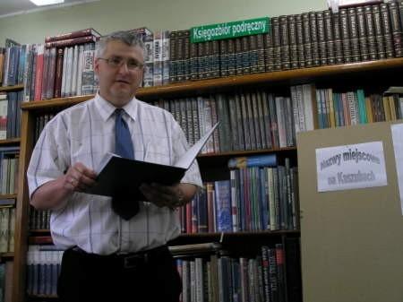 Kazimierz Jaruszewski przez godzinę opowiadał o etymologii pomorskich miast.