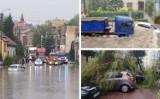 Gwałtowne burze w woj. śląskim. Zalane domy, ulice, połamane drzewa... Strażacy interweniowali 150 razy