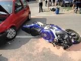 Wypadek Bartkowa Posadowa: zderzenie fiata z motocyklem