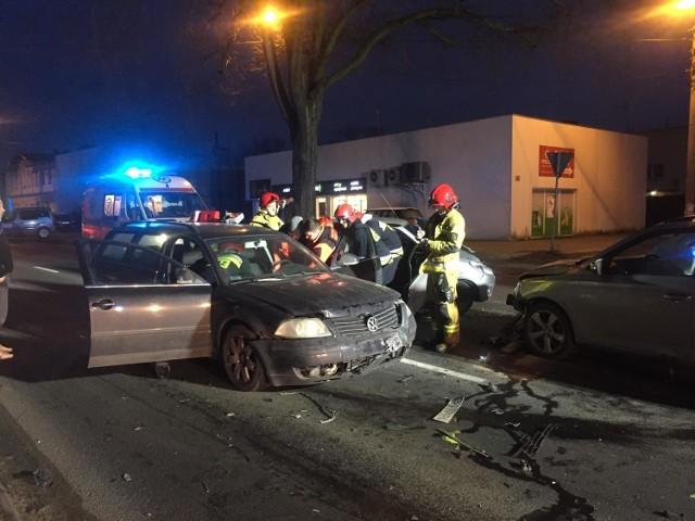 Do wypadku czterech samochodów doszło w Luboniu na ul. Armii Poznań.