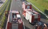 Poważny wypadek na A1 w Rulewie (pow. świecki). Dwie osoby ranne
