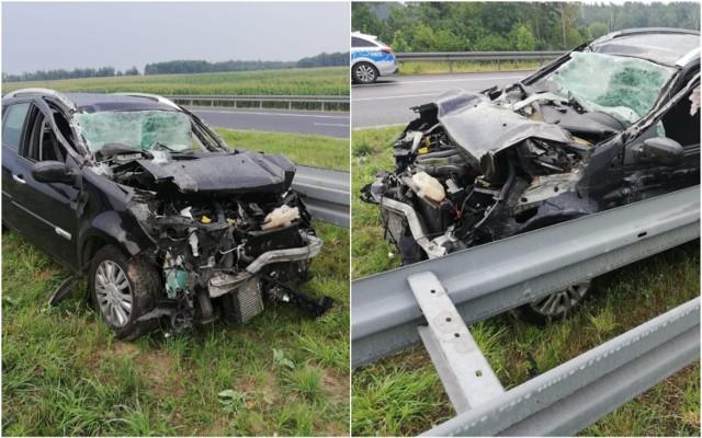 Wypadek na autostradzie A1 na odcinku Włocławek - Kutno