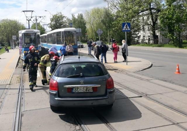Wypadek na ul. Kosmonautów 20.05.2021