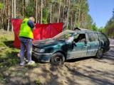 Tragiczny wypadek na drodze gruntowej w gminie Trzebielino. Nie żyje mężczyzna. Policja ustala tożsamość