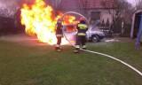Pożar auta na ul. Langiewicza w Krotoszynie