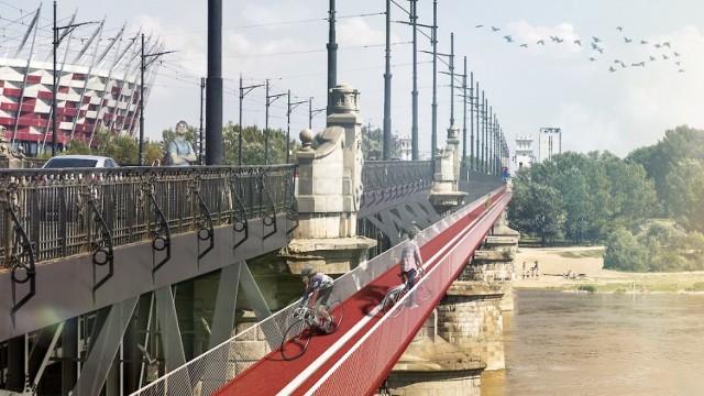 """Kładka rowerowa """"doczepiona"""" do mostu Poniatowskiego? Oto jeden ..."""