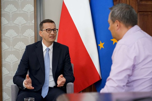 Wywiad z premierem Mateuszem Morawieckim podczas wizyty w Kaliszu