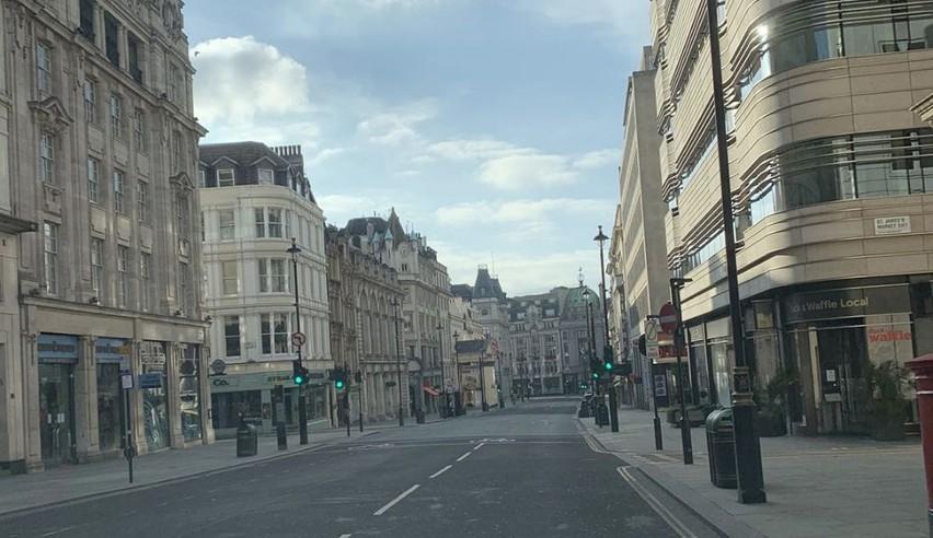 Opustoszały Londyn na zdjęciach stargardzianina