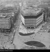 Katowice w 1989 roku. Zobaczcie miasto z lotu ptaka. Mamy unikatowe archiwalne zdjęcia. Widać dawny rynek, rondo, kopalnię Katowice