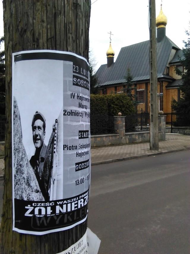 Plakat zapraszający na Hajnowski Marsz Żołnierzy Wyklętych.