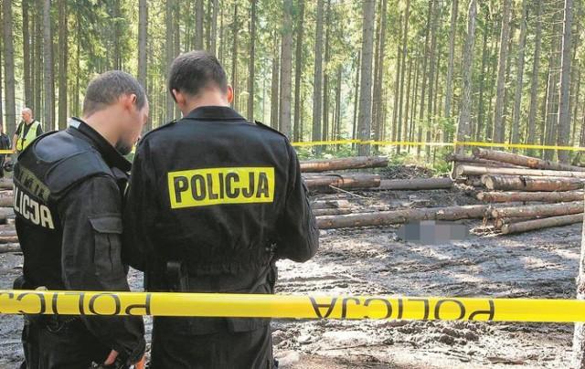 Na zwłokach 16-letniego Marcina znaleziono pięć śladów po uderzeniach tępym narzędziem. Zdjęcie z miejsca znalezienia zwłok w Brzezinach koło Zakopanego.